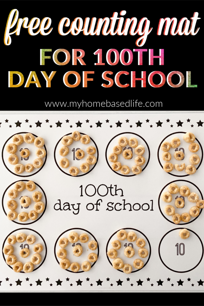 100th day of school counting mat free printable