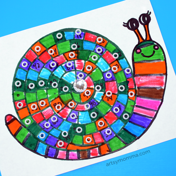 skip counting to 100 snail printable