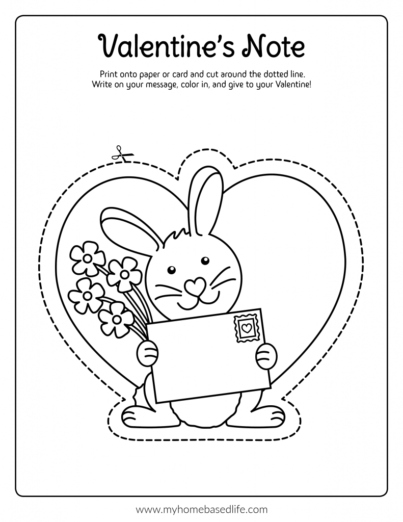 some bunny loves you Valentine's Day free printable card