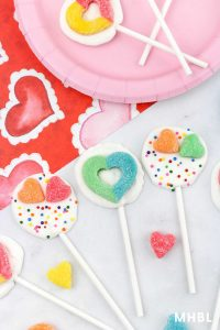 Valentine chocolate suckers
