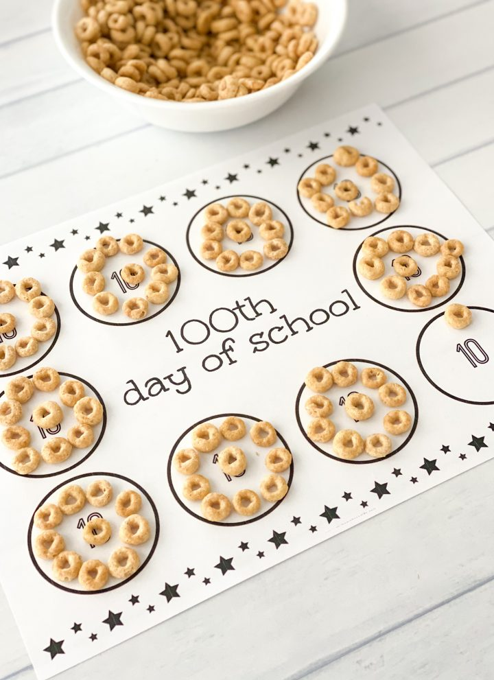 counting mat for the 100th day of school