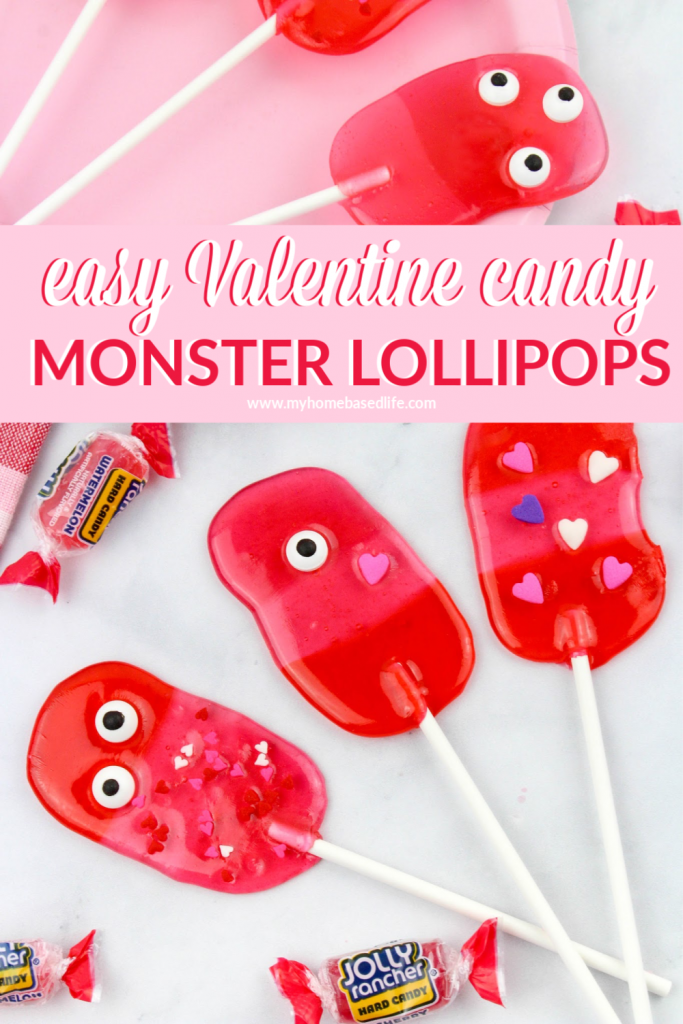 Valentine lollipops these monster suckers are a fun homemade candy treat