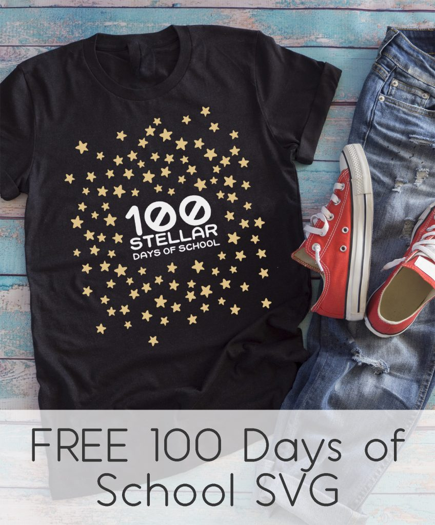 100th day of school star shirt idea