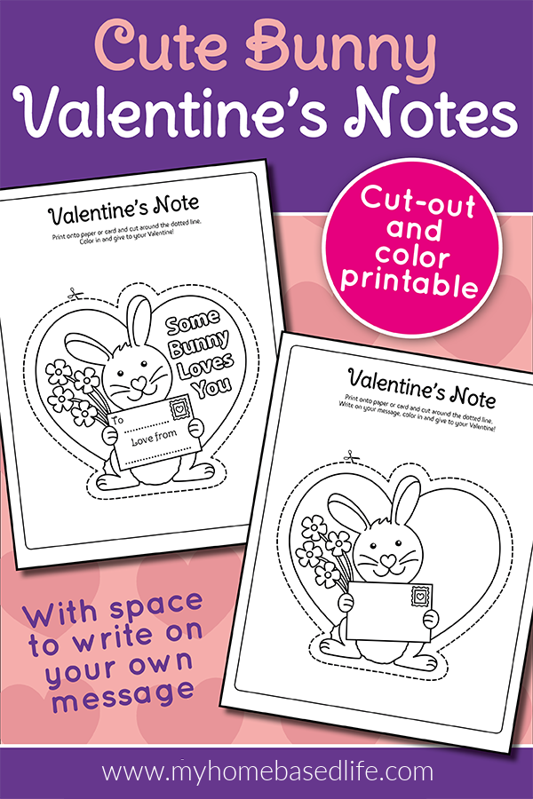 free bunny Valentine's Day card printable - some bunny loves you cute Valentine