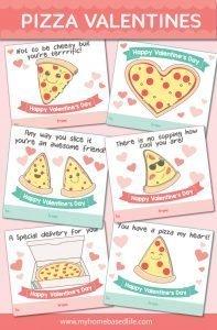 printable pizza valentine cards