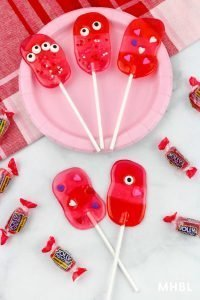 Valentine monster lollipops
