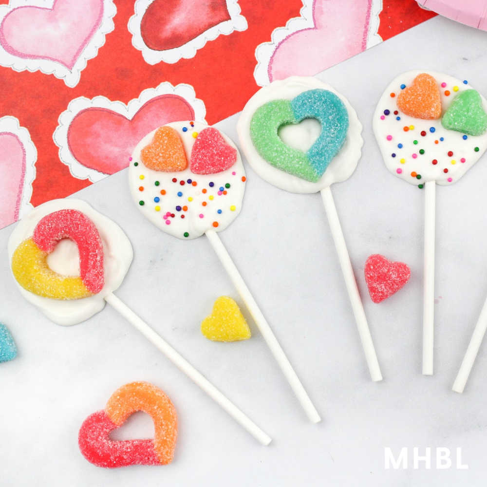 easy Valentine lollipops