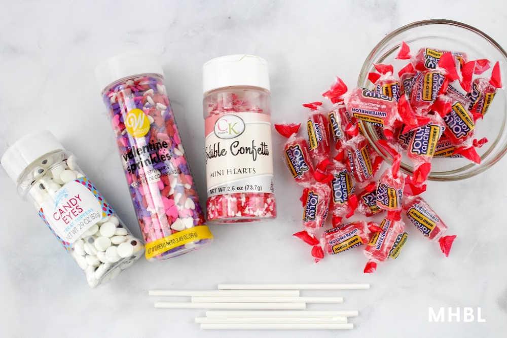 Valentine's Day candy treat supplies