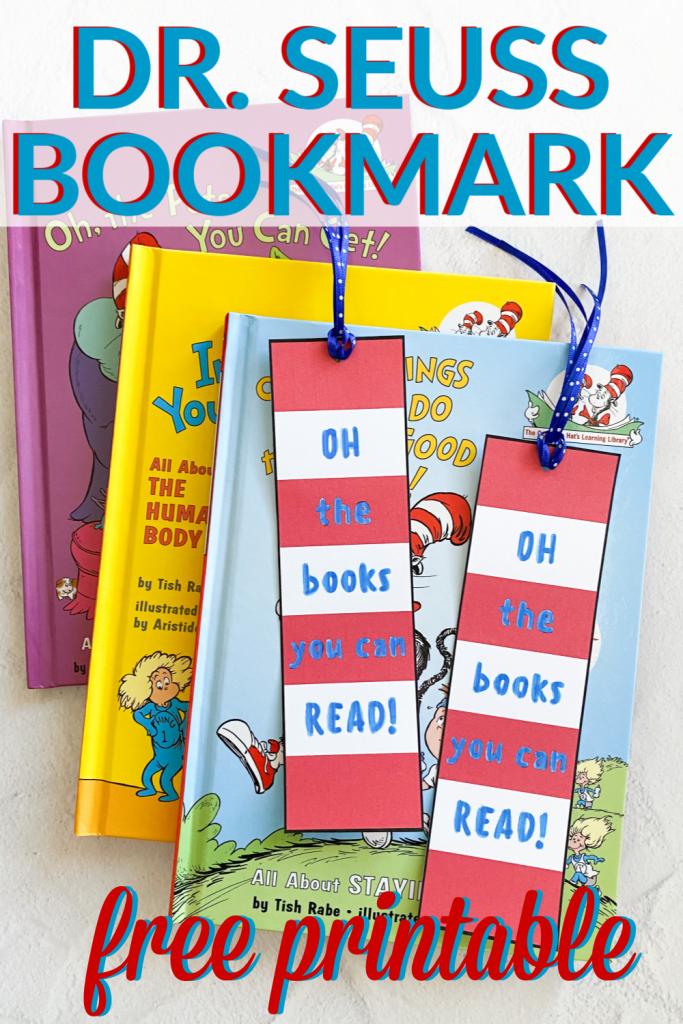 Free printable Dr. Seuss bookmark for Read Across America Week