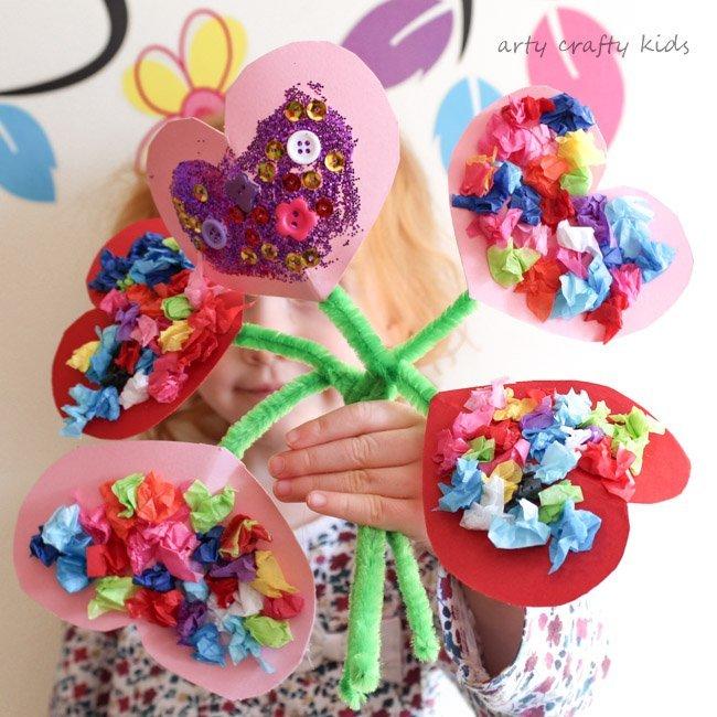 heart bouquet craft