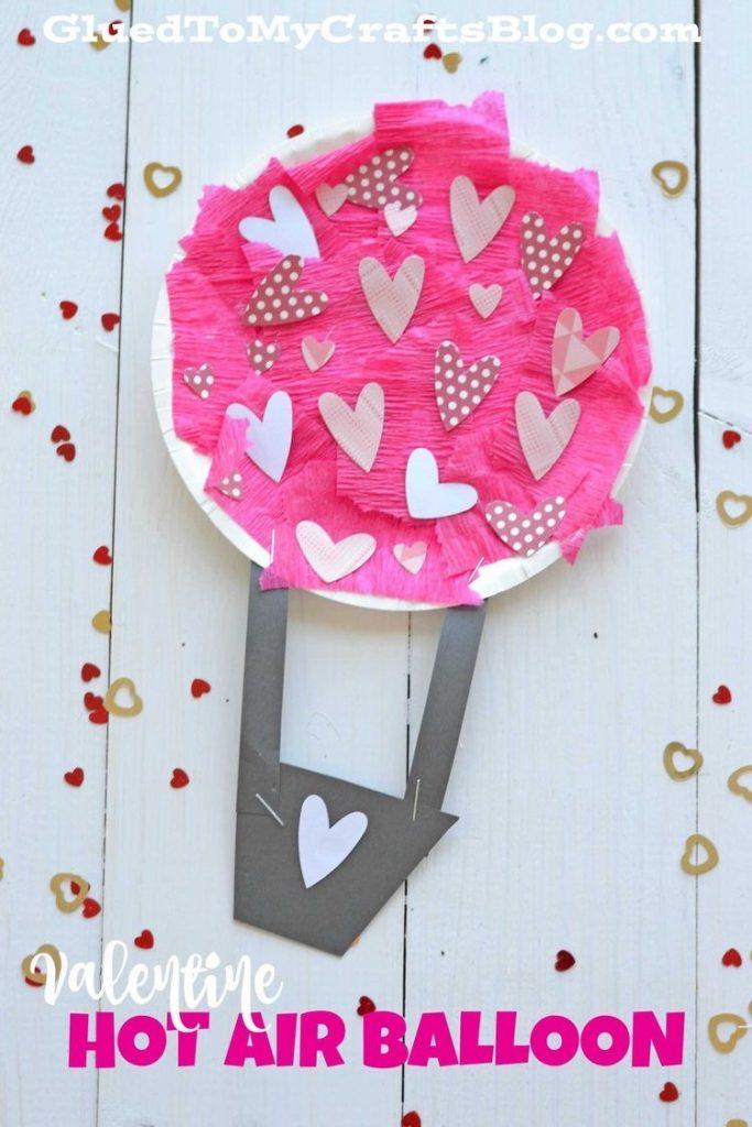 hot air balloon valentines day craft