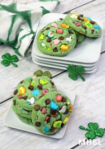 lucky charm cookies for St. Patrick's Day