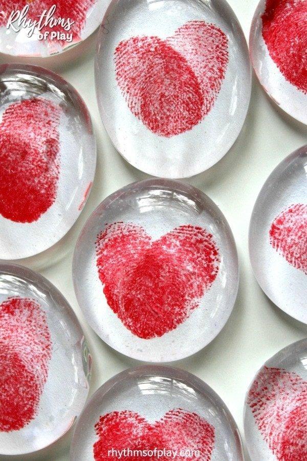 thumbprint heart magnets