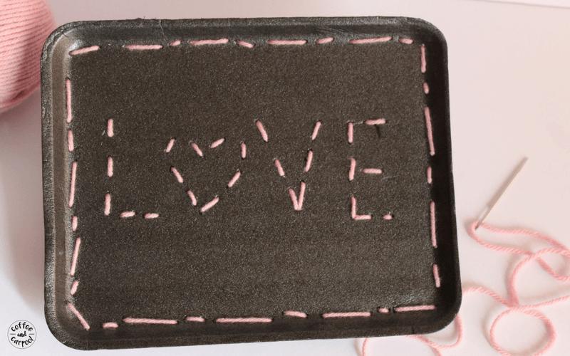 sewing valentine craft