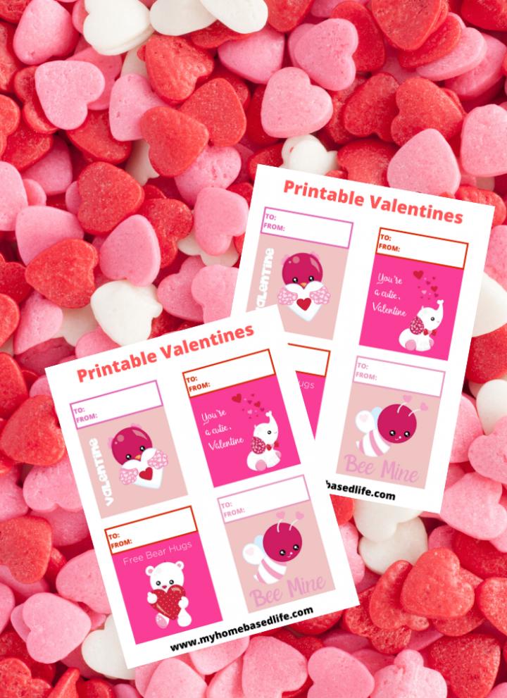animal valentine cards