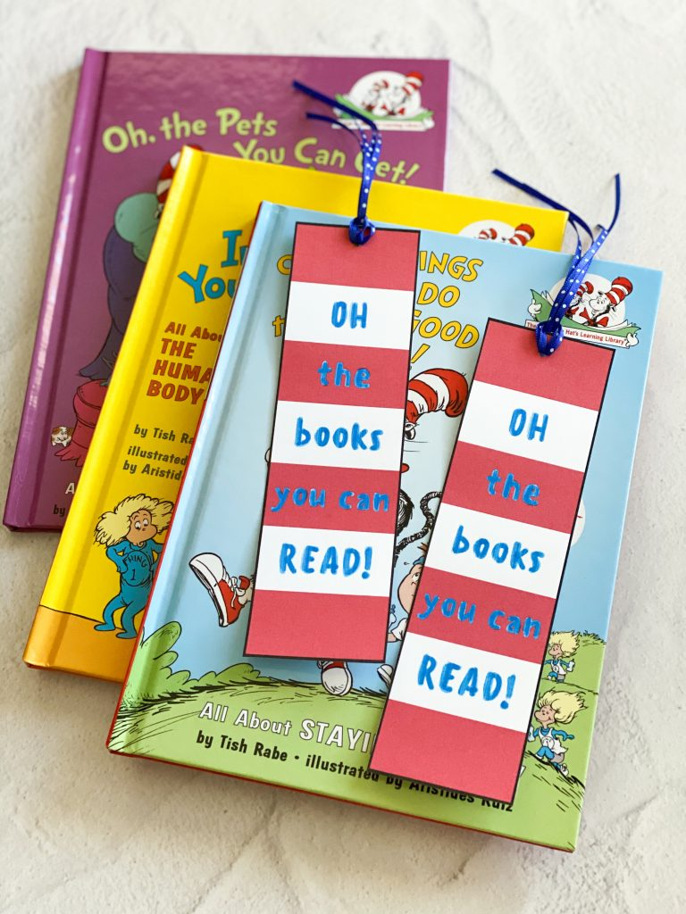Dr. Seuss oh the book you can read free printable bookmark