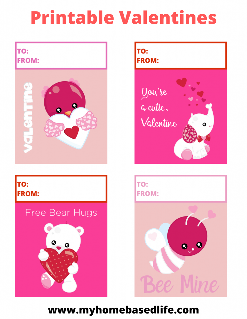 free animal themed valentine's cards
