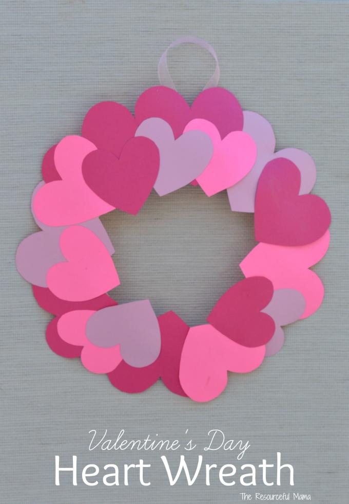 heart wreath craft