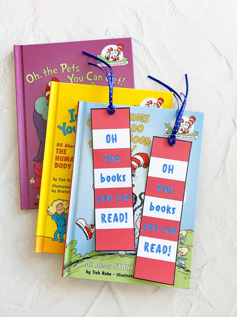 free printable cat in the hat bookmark