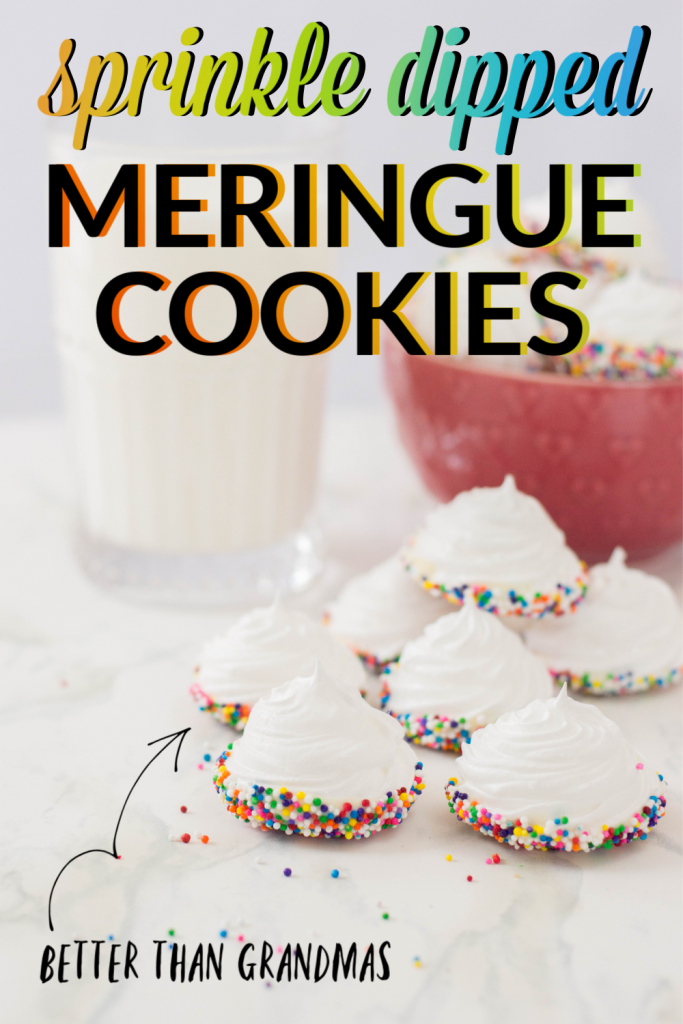 sprinkle dipped meringue cookie recipe