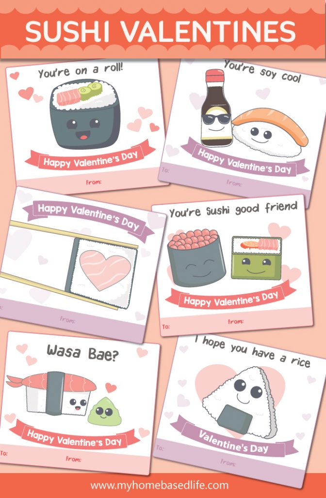 free sushi Valentine's Day cards