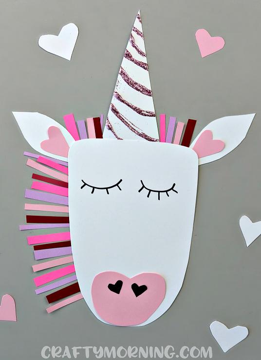 unicorn valentine craft
