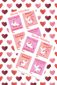 unicorn valentine cards you can print at home