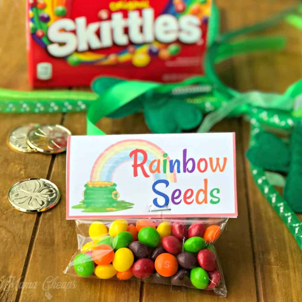 rainbow seeds for St. Patrick's Day