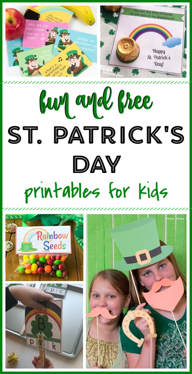 St. Patrick's Day printable treats, games, and activities for kids