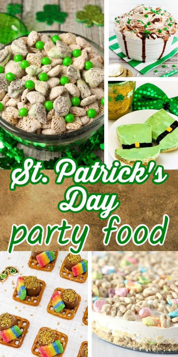 St. Patrick's Day party food recipes - appetizers, snacks, meals, and dessert ideas