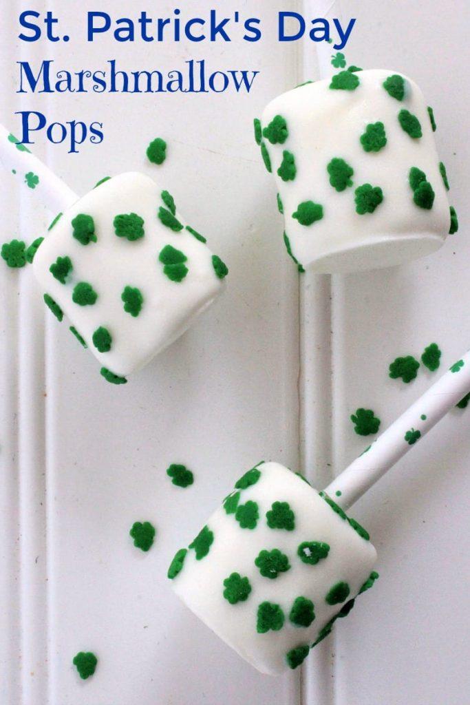 shamrock marshmallow pops