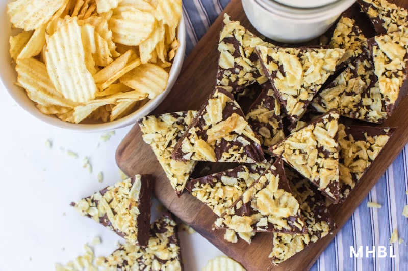chocolate chip peanut butter potato chip bites