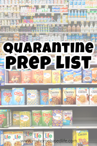 how to prepare for quarantine and / or lock down with the coronavirus