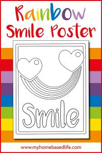 free rainbow smile printable