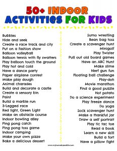 easy and fun indoor activities for kids