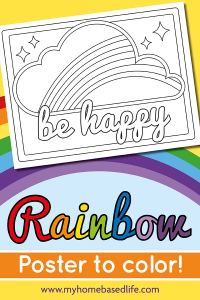 rainbow be happy coloring page