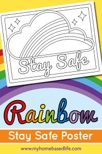 rainbow stay safe coloring page