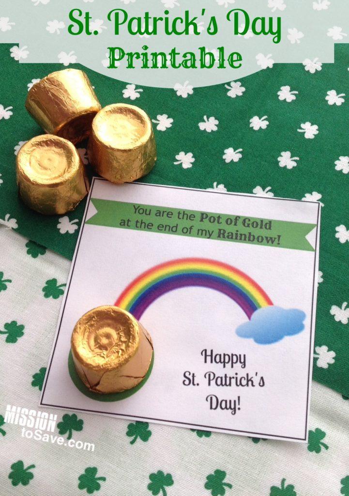 St. Patrick's Day printable treat