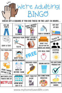 adulting bingo and fun bingo game for adults