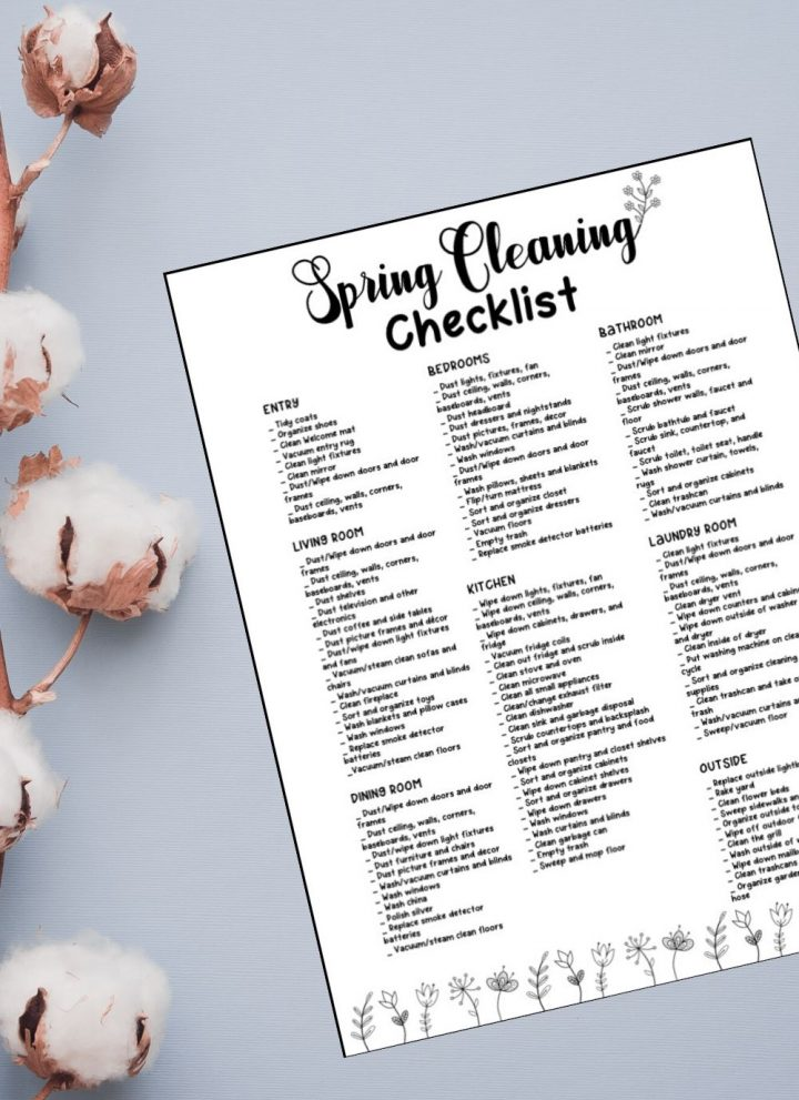 What to Spring clean? The ultimate cleaning checklist.