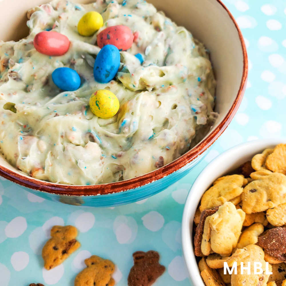 Easter cookie dip recipe using Easter candy