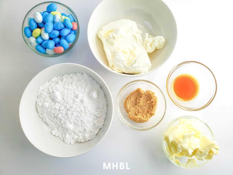 Easter cookie dip ingredients
