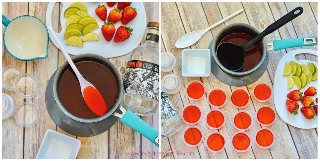 margarita jello shot process