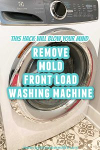 how to clean mold front loader