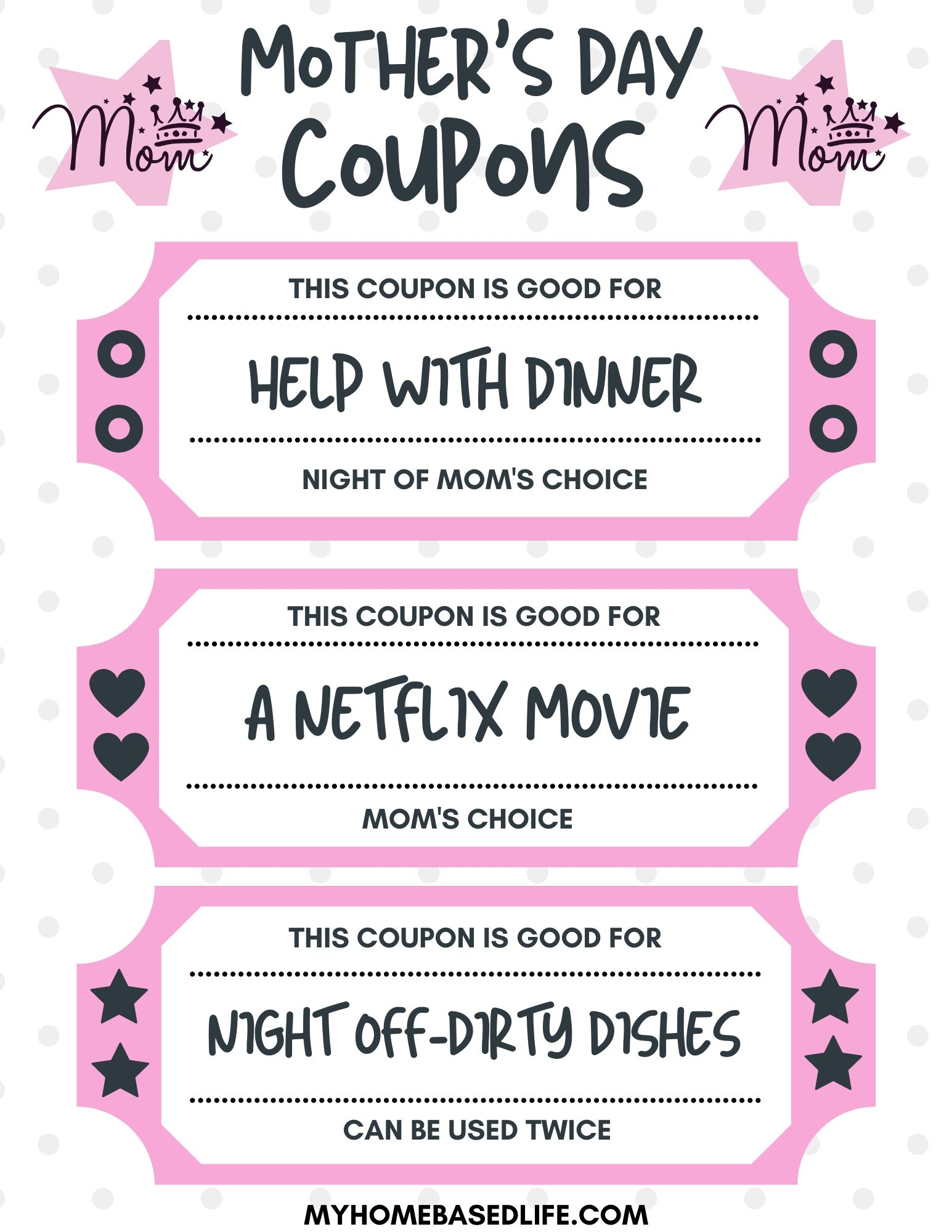 Free Printable Mother S Day Coupons My Home Based Life