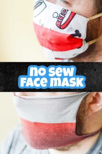 how to make a no sew face mask - two tutorials using supplies you already have at home
