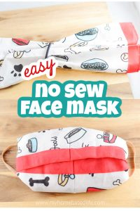 how to make a no sew face masking using a bandana