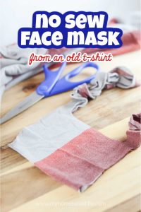 how to make a face mask using an old t-shirt