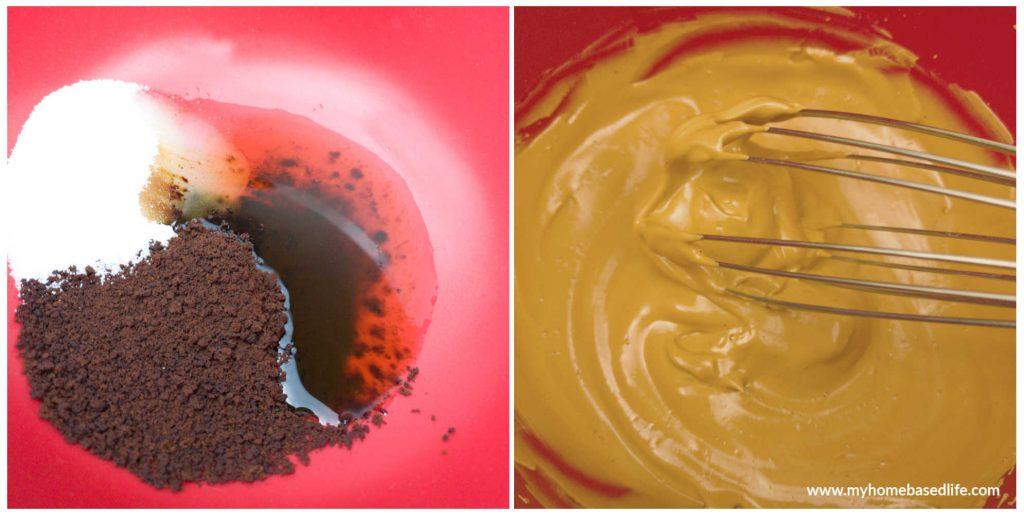 whipping coffee mixture together