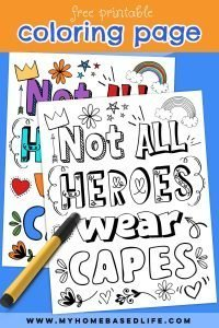 coloring page for heroes